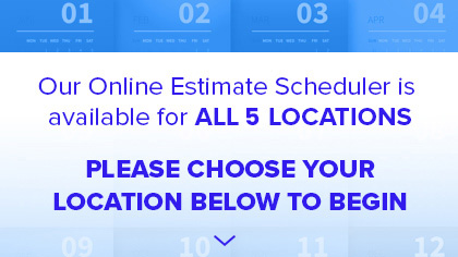 Use our scheduler to make an appointment for a FREE estimate!